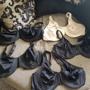 Plus size lot of 5 bras